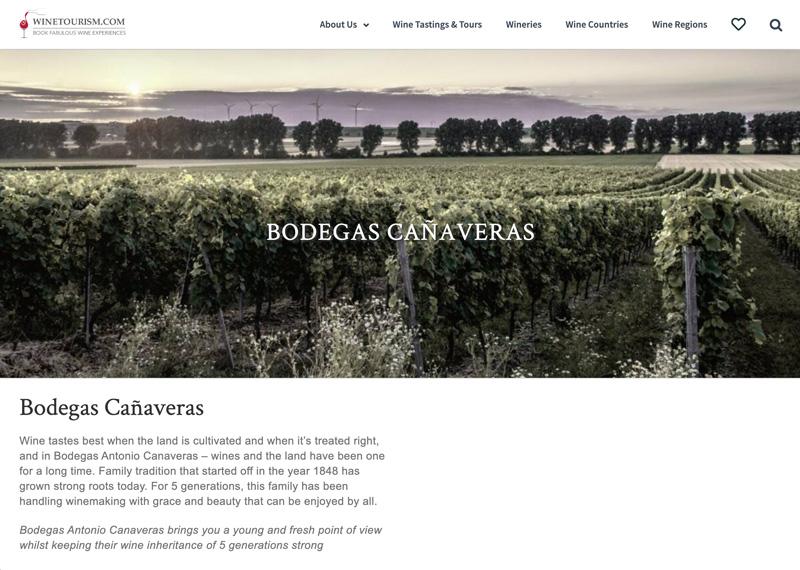 Bodegas Cañaveras at Winetourism.com